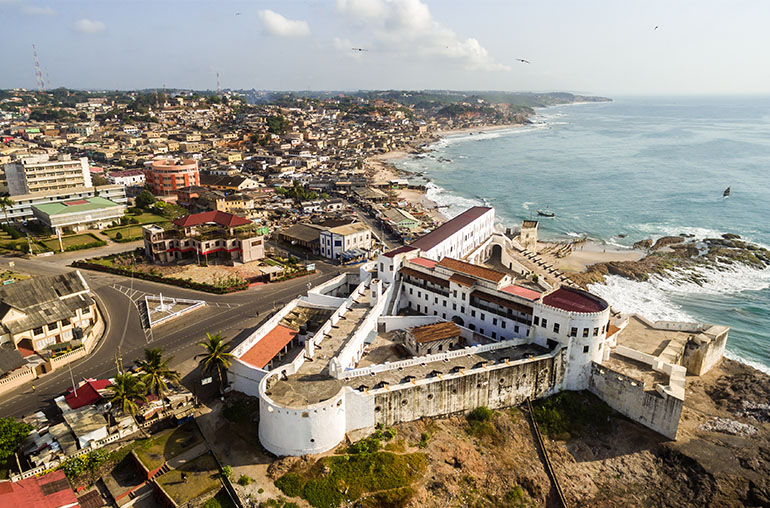 Cape Coast town ancient slave castle in Ghana, west Africa africa african travel specialists