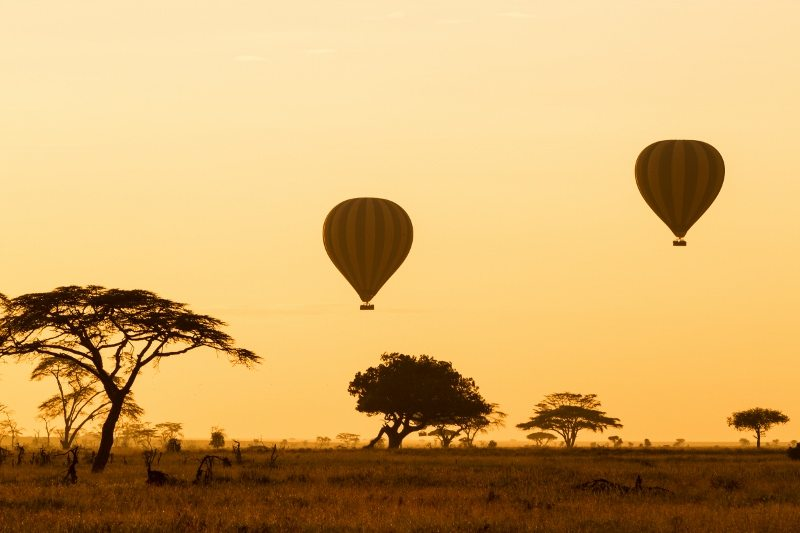 Hot air balloons Serengeti National Park Tanzania African Travel Specialists