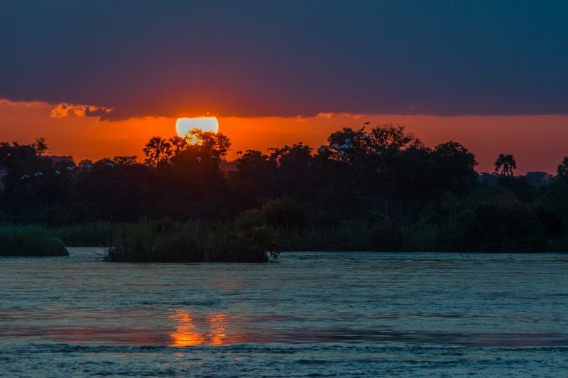 Zambezi River Zimbabwe Zambia Sunset in Africa African Travel Specialists