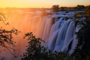Victoria Falls African Sunset Botswana Zambia Fly In Safari African Travel Specialists