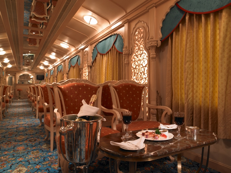 The Golden Chariot The pride of the south Lounge Room Luxury Train Travel India Tours and Travel Specialists India Trains