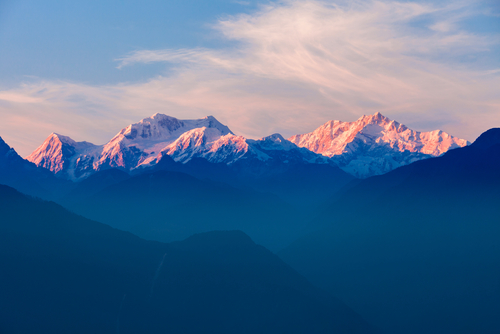 Kangchenjunga Sunset Pelling North East India India Tours and Travel Specialists India