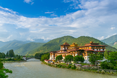 Bhutan Punakha Dzong Monastery Best of Bhutan India Tours and Travel Specialists India Travel India