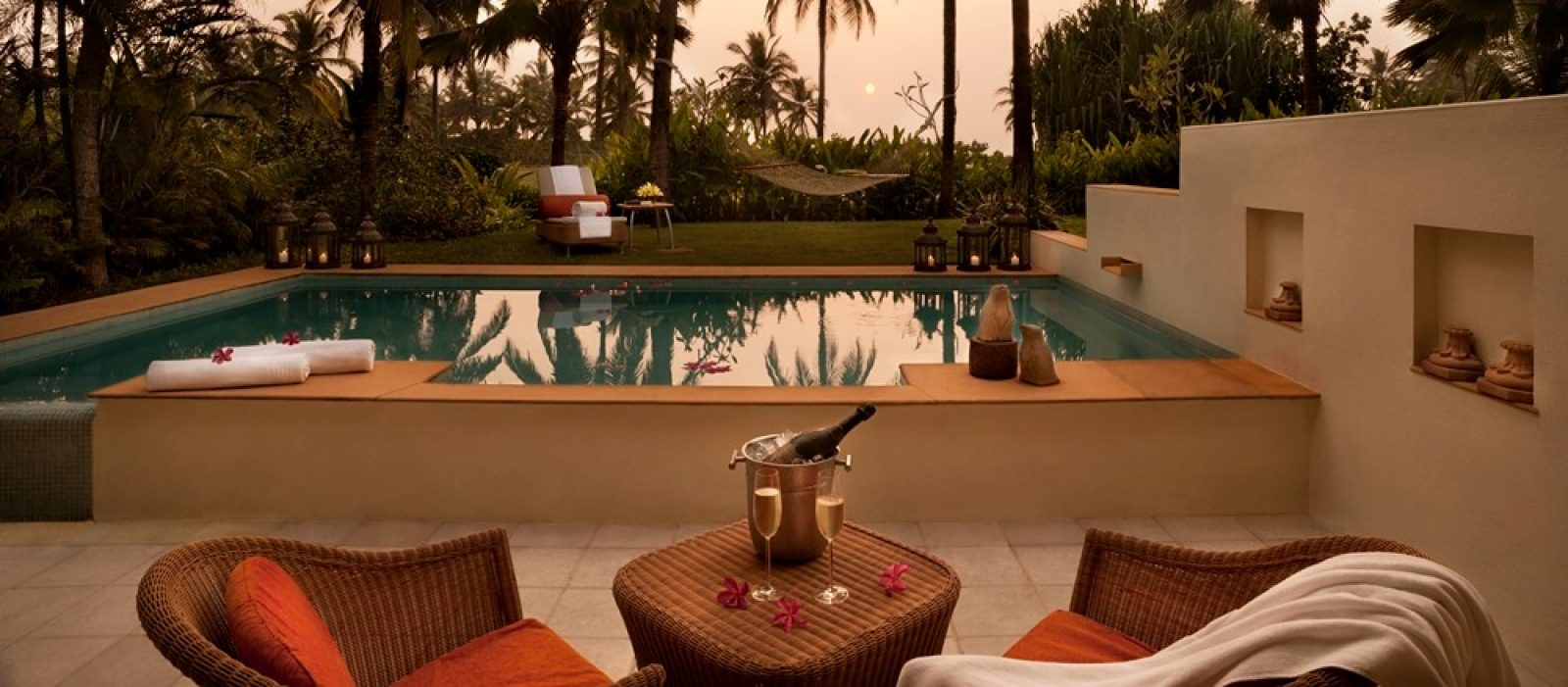 Taj Exotica Goa Private Plunge pool 5 star accommodation India India Tours and Travel Specialists Goa getaways India
