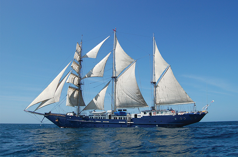 S/S Maryanne Sailing Ship Sailing in the Galapagos Islands Galapagos Cruise  Ecuador South America South American Travel Specialists