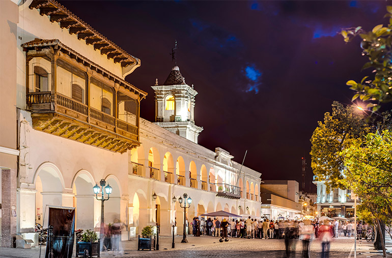 The Salta Cabildo, a colonial building in Salta, Argentina