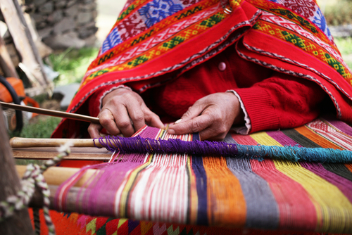 Traditional weaving Peru South America South American Travel Specialists