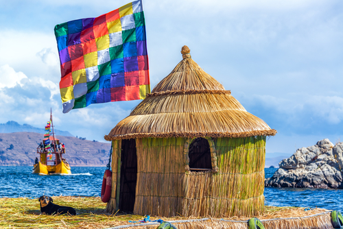 Lake Titicaca Whiphala Flag Uros Islands Peru South America South American Travel Specialists