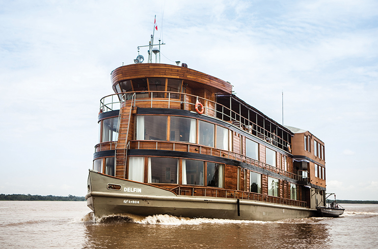 Delfin II Amazon Cruising Luxury Deal FREE spa package South American Travel Specialists South America