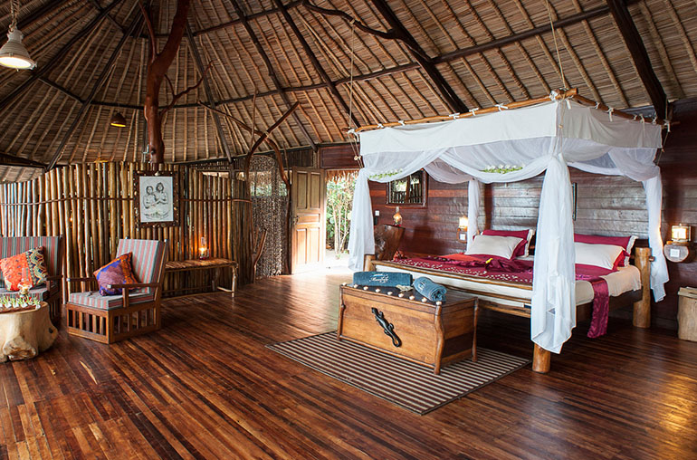 Manafiafy rainforest lodge room interior madagascar