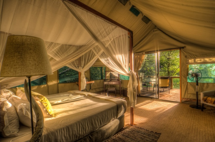 Experience a Botswana Luxury Fly-in Safari, with The African Travel Specialists, while staying at Camp Moremi.