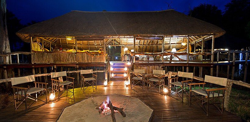 Experience a Botswana Luxury Fly-in Safari, with The African Travel Specialists, while staying at Chitabe Camp situated in the Okavango Delta
