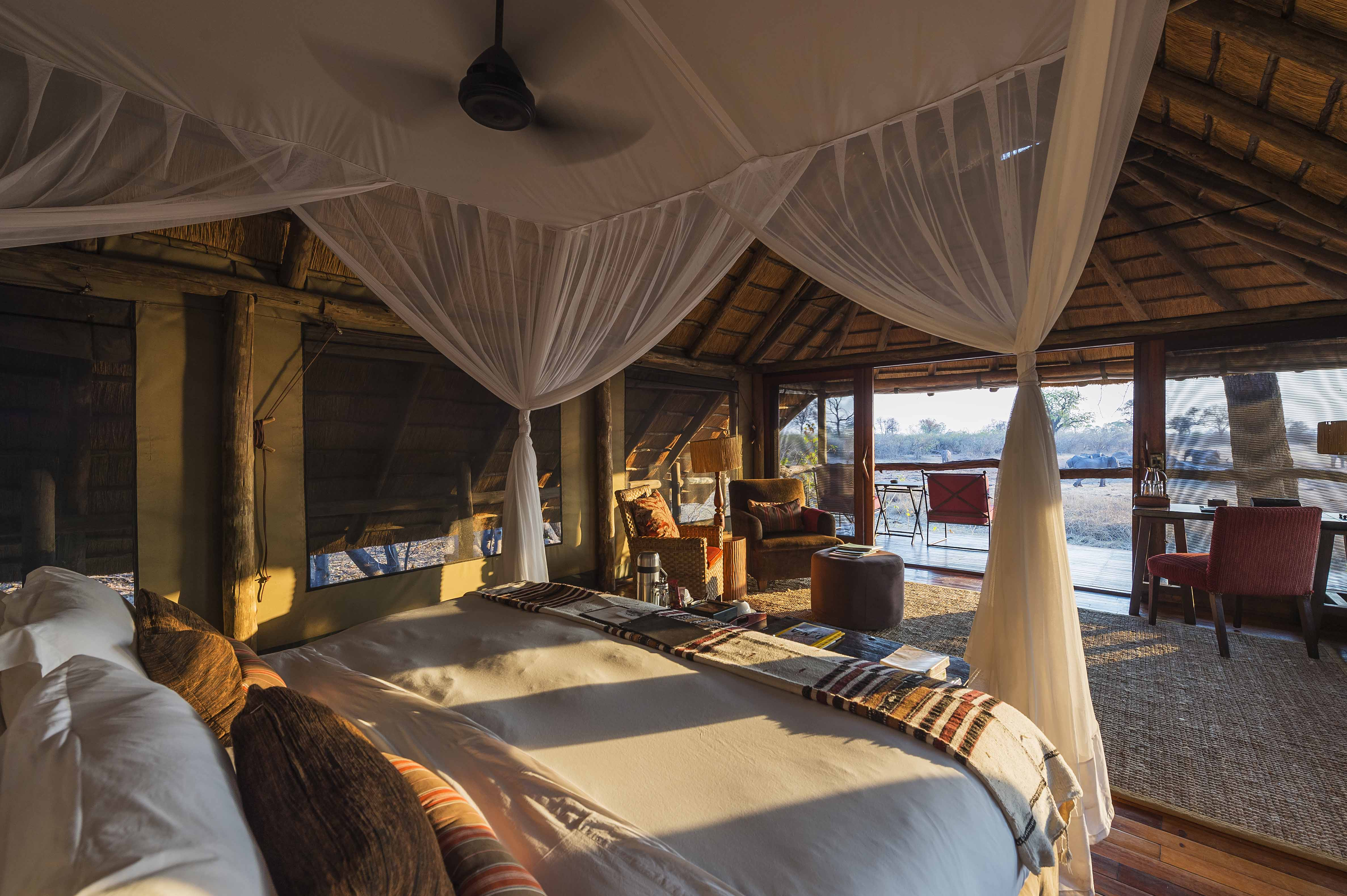 Experience a Botswana Luxury Fly-in Safari, with The African Travel Specialists, while staying at Savuti Camp located in the Savute Channel