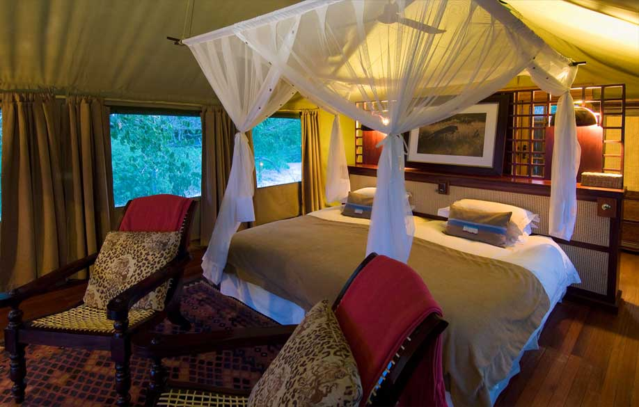 Experience a Botswana Luxury Fly-in Safari, with The African Travel Specialists, while staying at Selinda Camp.