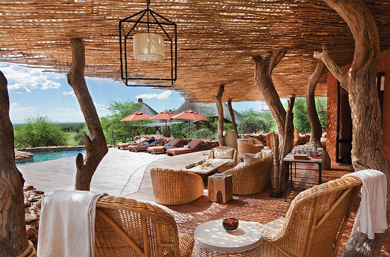 Tswalu Fly In Safari Motse Suite Kalahari pool deck South Africa Africa African Travel Specialists