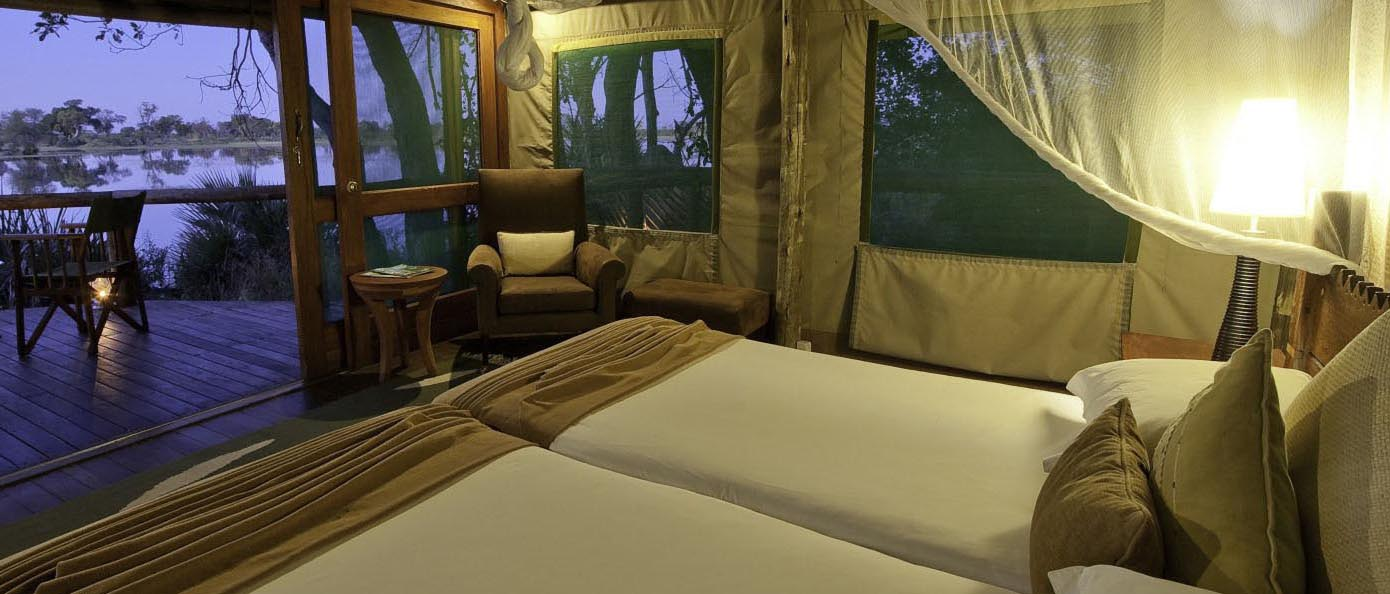 Experience a Botswana Luxury Fly-in Safari, with The African Travel Specialists, while staying at Xigera Camp.