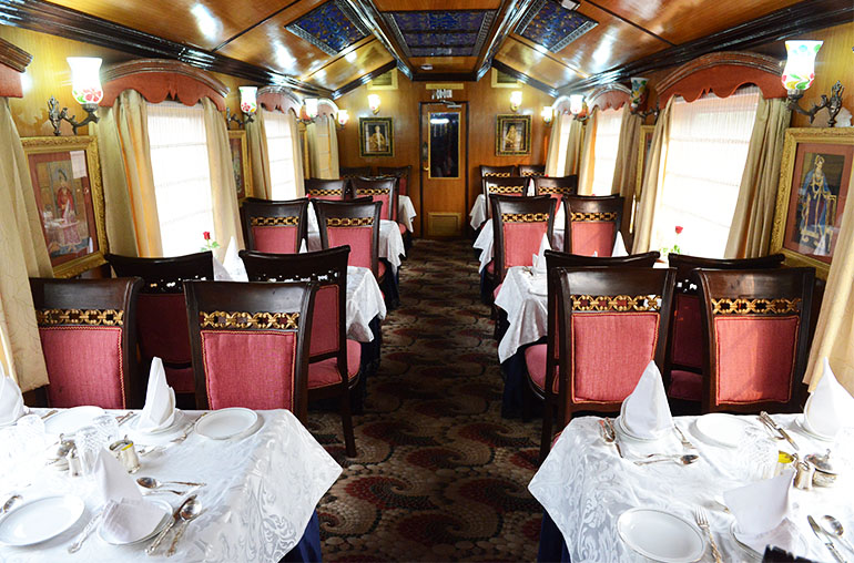palace on wheels dining india train travel india tours and travel specialists