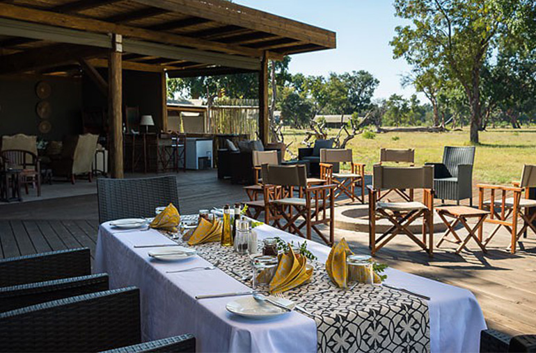 Davison's camp  outdoor dining hwange national park zimbabwe africa african travel specialists