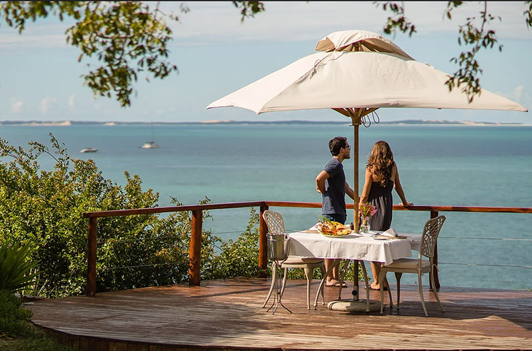bahia mar outdoor dining mozambique africa african travel specialists