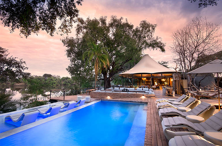 thorntree river lodge pool victoria falls zambia africa african travel specialists