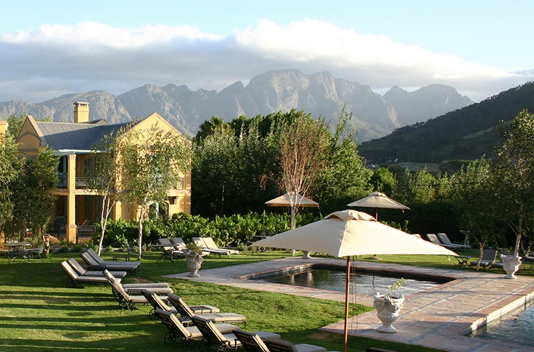 Franschhoek Country house and villas south africa winelands