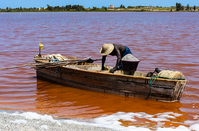 pink lake senegal africa west african travel specialists